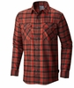 Mountain Hardwear Mens Trekkin Flannel Long Sleeve Shirt Fiery Red