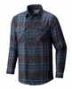 Mountain Hardwear Mens Trekkin Flannel Long Sleeve Shirt Nightfall Blue