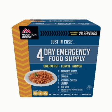 Mountain House Just in Case... 4 Day Emergency Food Supply
