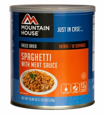 Mountain House Spaghetti w/ Meat Sauce #10 Can