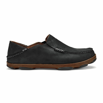 OluKai Mens Moloa Black/ Toffee