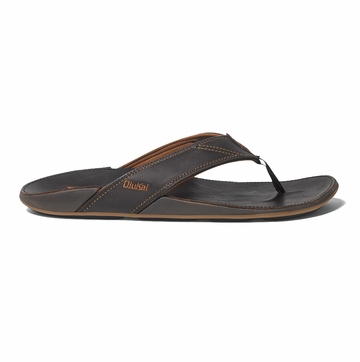 OluKai Mens Nui Dark Java/ Dark Java (Close Out)
