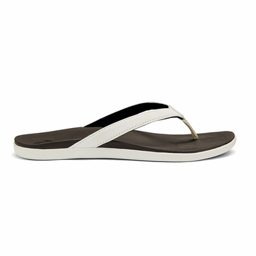 Olukai Womens Ho'Opio White/ Black