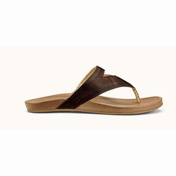 Olukai Womens Lala Kona Coffee/ Tan