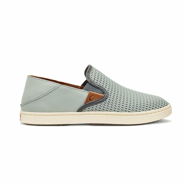 Olukai Womens Pehuea Pale Grey/ Charcoal (Close Out)