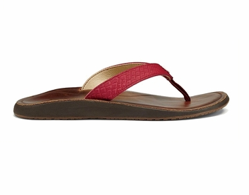 OluKai Womens Pua Deep Red/ Bean (close out)
