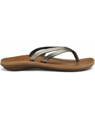 OluKai Womens U'I Pewter/ Sahara  (close out)