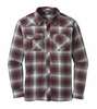Outdoor Research Mens Feedback Flannel Shirt Black/ Redwood (close out)