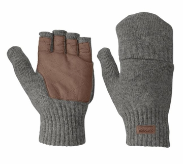 Outdoor Research Mens Lost Coast Fingerless Mitt Pewter