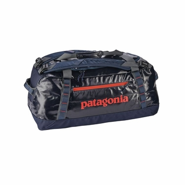 Patagonia Black Hole Duffel 60L Navy Blue w/ Paintbrush Red