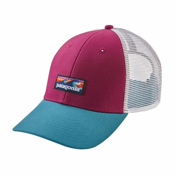 Patagonia Board Short Label LoPro Trucker Hat Magenta