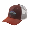 Patagonia Fitz Roy Bear Trucker Hat Dark Ruby