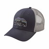 Patagonia Fitz Roy Bear Trucker Hat Navy Blue