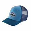 Patagonia Fitz Roy Bison Trucker Hat Radar Blue