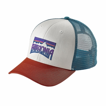 Patagonia Fitz Roy Frostbite Trucker Hat White/ Roots Red