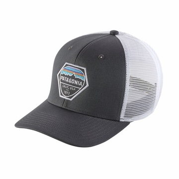 Patagonia Fitz Roy Hex Trucker Hat Forge Grey
