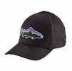 Patagonia Fitz Roy Trout Stretch Fit Hat Black