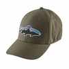 Patagonia Fitz Roy Trout Stretch Fit Hat Industrial Green