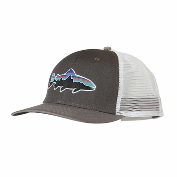Patagonia Fitz Roy Trout Trucker Hat Forge Grey/ Feather Grey