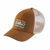 Patagonia Line Logo Badge LoPro Trucker Hat Bear Brown