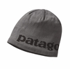 Patagonia Lined Beanie Logo Belwe: Forge Grey