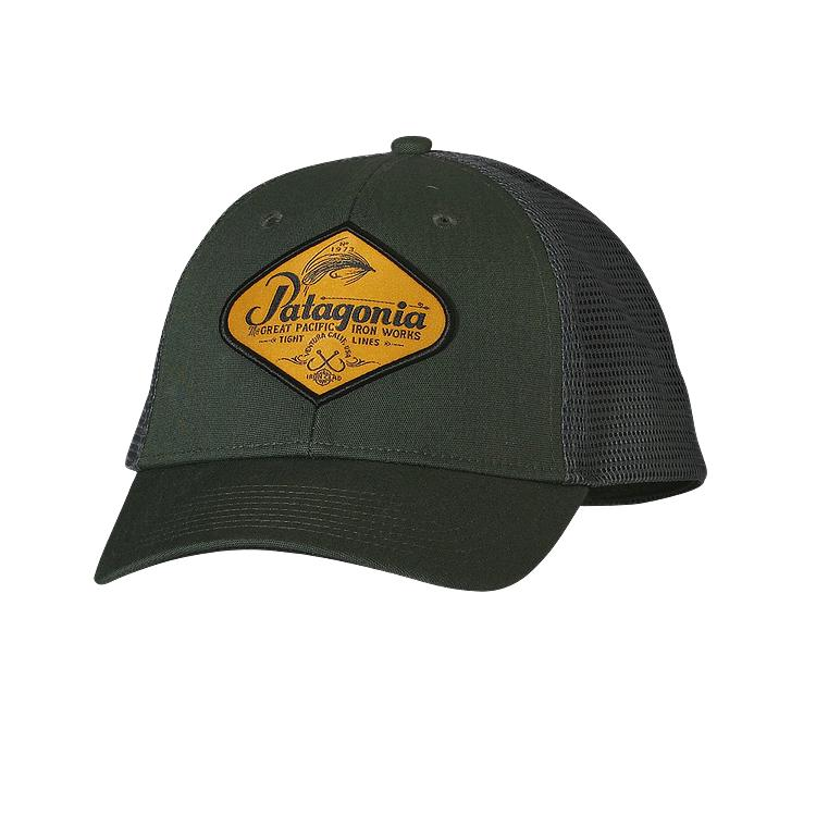 Green fishing hat images for Fishing logo hats
