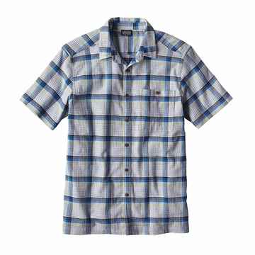 Patagonia Mens A/C Shirt Alongshore: Cuban Blue