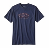 Patagonia Mens Arched Type '73 Cotton/ Poly Responsibili-Tee Navy Blue