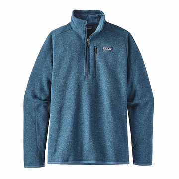 Patagonia Mens Better Sweater 1/4 Zip Fleece Big Sur Blue