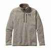 Patagonia Mens Better Sweater 1/4 Zip Fleece Bleached Stone XL