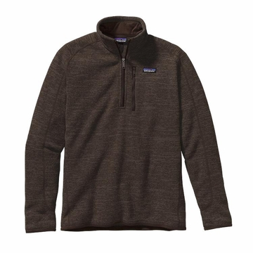 Patagonia Mens Better Sweater 1/4 Zip Fleece Dark Walnut