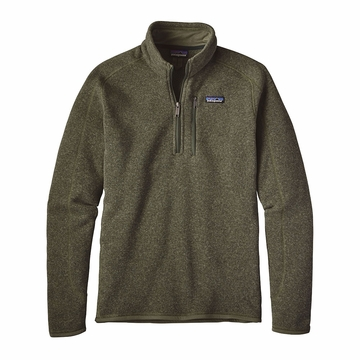Patagonia Mens Better Sweater 1/4 Zip Fleece Industrial Green