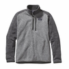 Patagonia Mens Better Sweater 1/4 Zip Fleece Nickel w/ Forge Grey (Close Out)