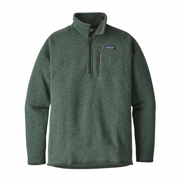 Patagonia Mens Better Sweater 1/4-Zip Fleece Pesto