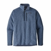 Patagonia Mens Better Sweater 1/4-Zip Fleece Railroad Blue