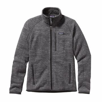 Patagonia Mens Better Sweater Fleece Jacket Nickel w/ Forge Grey