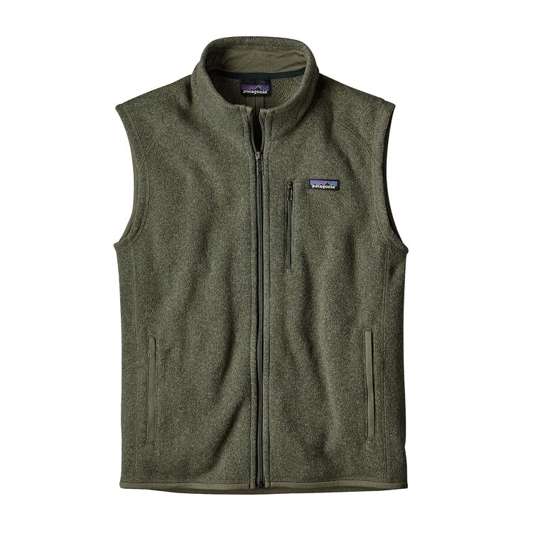 Patagonia Mens Better Sweater Fleece Vest Industrial Green