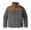 Patagonia Mens Bivy Down Jacket Forge Grey/ Bear Brown