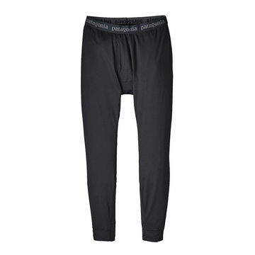 Patagonia Mens Capilene Midweight Bottoms Black (Close Out)