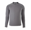 Patagonia Mens Capilene Midweight Crew Feather Grey/ Feather Grey X-Dye (Close Out)