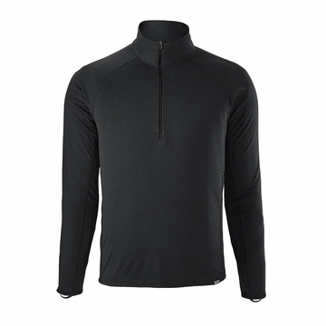 Patagonia Mens Capilene Midweight Zip Neck Black (Close Out)