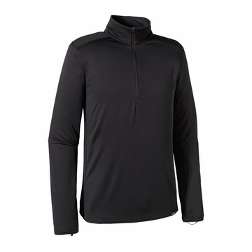 Patagonia Mens Capilene Midweight Zip-Neck Black (close out)