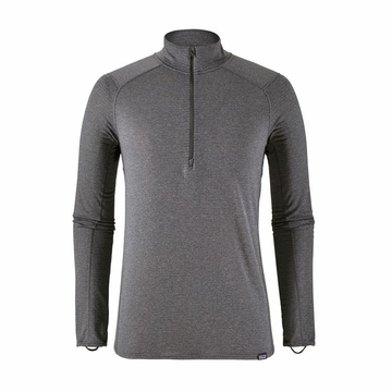 Patagonia Mens Capilene Thermal Weight Zip-Neck Forge Grey- Feather Grey X-Dye