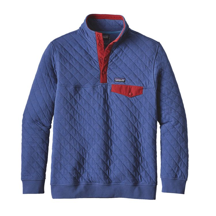 Patagonia Mens Cotton Quilt Snap-T Pullover Harvest Moon Blue