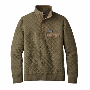 Patagonia Mens Cotton Quilt Snap-T Pullover Industrial Green