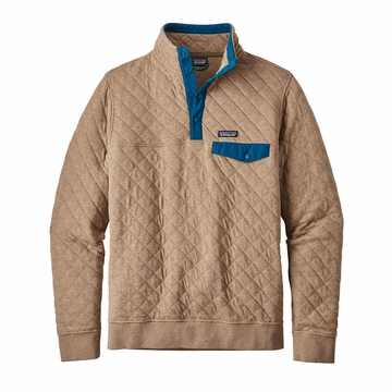 Patagonia Mens Cotton Quilt Snap-T Pullover Mojave Khaki