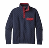 Patagonia Mens Cotton Quilt Snap-T Pullover Navy Blue