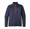 Patagonia Mens Crosstek Fleece 1/4 Zip Navy Blue