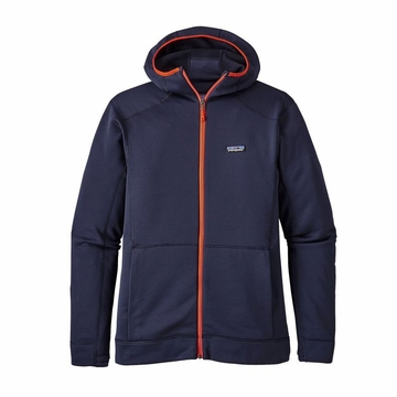Patagonia Mens Crosstek Fleece Hoody Navy Blue
