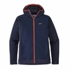 Patagonia Mens Crosstek Fleece Hybrid Hoody Navy Blue (close out)